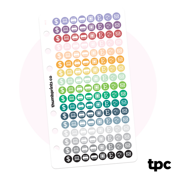 Tiny Multicolor Sticker Shop Icons for Personal Planners