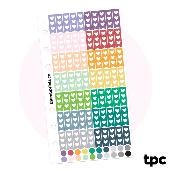 Multicolor Mini Flags for Personal Planners