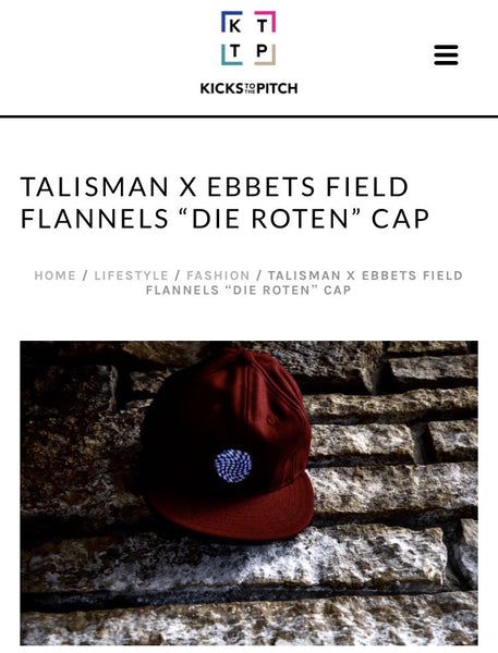 "Talisman & Co. ""Die Roten"" Cap Featured in Kicks to the Pitch"