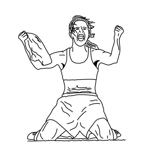 Talisman & Co. | Brandi Chastain Coloring Page