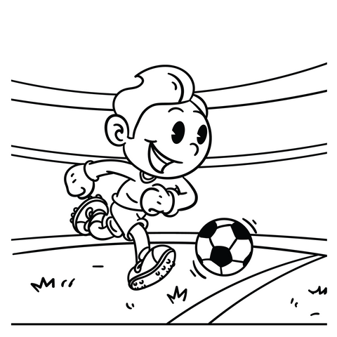 Talisman & Co. | Vintage Cartoon Soccer Player Coloring Page