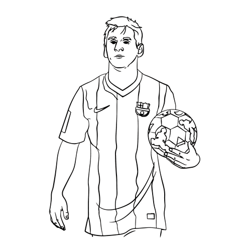 Talisman & Co. | Messi Coloring Page