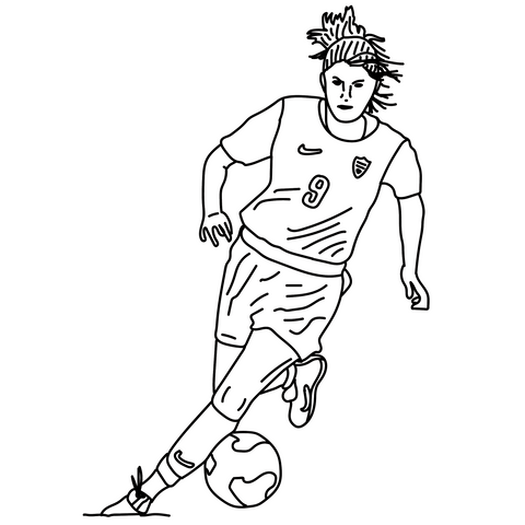 Talisman & Co. | Mia Hamm Coloring Page