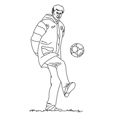 Talisman & Co. | Arsene Wenger Coloring Page