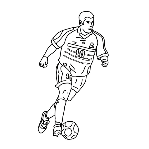 Talisman & Co. | Zidane France 98 Coloring Page