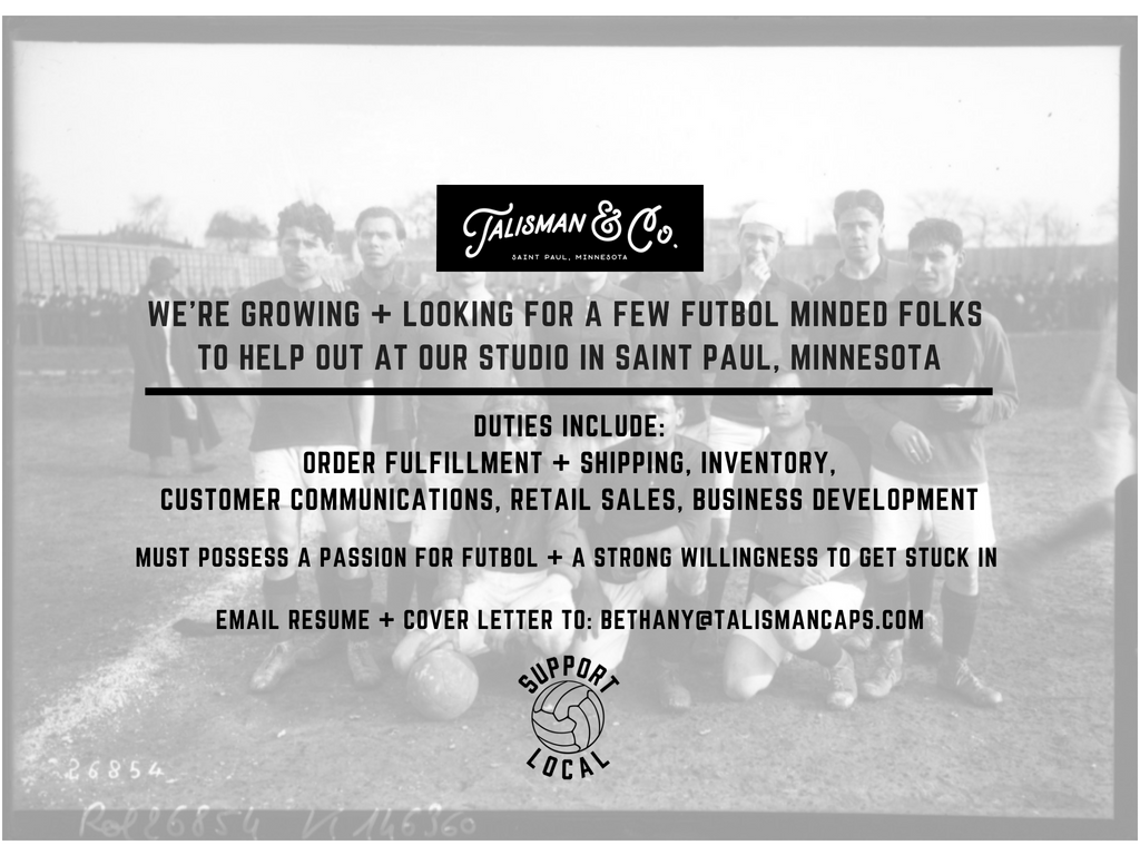 Talisman & Co. | Soccer Hats & Apparel | Jobs
