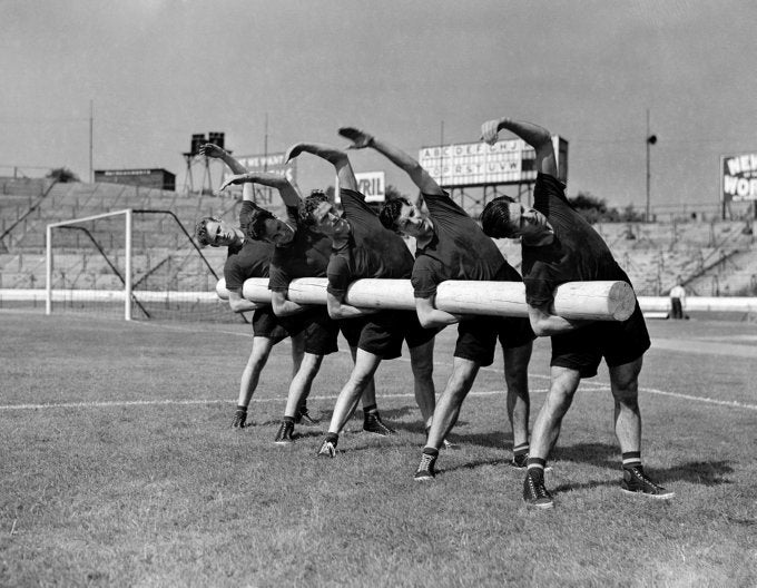 Chelsea FC // Training Session, 1953