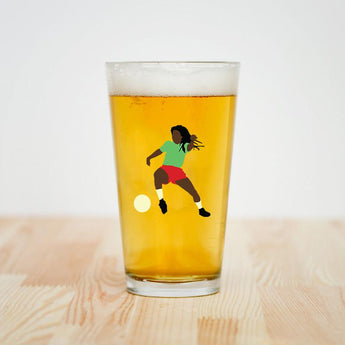 Talisman & Co. | Bob Marley Pint Glass | Football is Freedom Pint Glass
