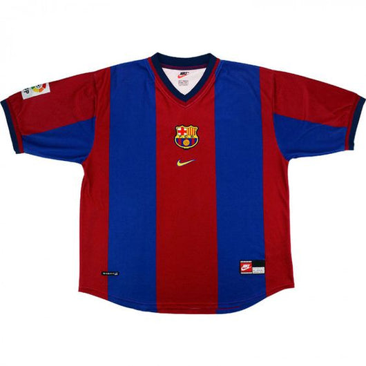 best sneakers ee3c4 2ab04 FC Barcelona 1998-2000 Nike Home Jersey