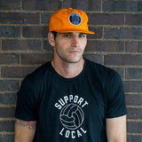 Support Local Fútbol 6-Panel Cap - Orange
