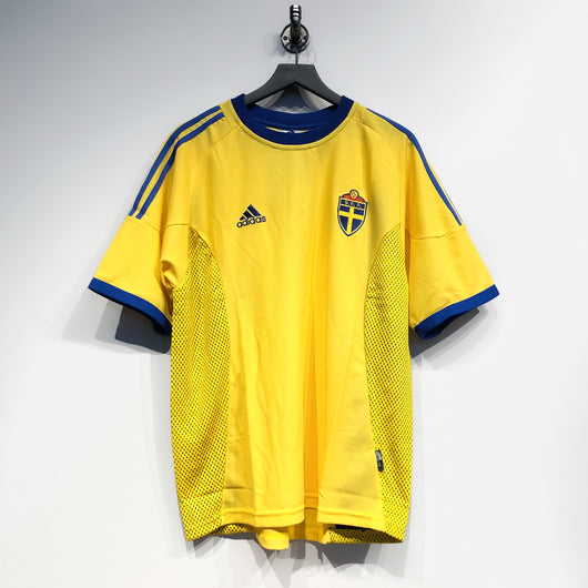 Sweden 2002-03 Adidas Home Jersey