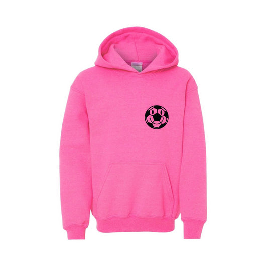 Kids Happy Ball Hoodie - Pink