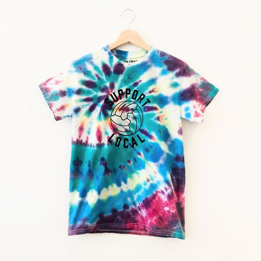 Support Local Fútbol Mixed Berry Tie Dye Tee