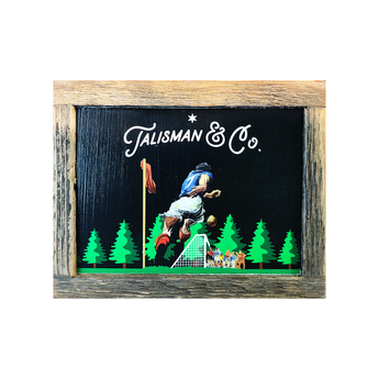 Talisman Homage Reclaimed Wood Box Art