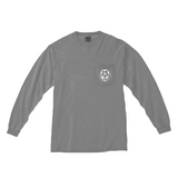 Talisman Soccer Stealie LS Garment Dyed Pocket Tee - Grey