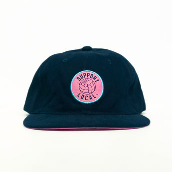 Support Local Fútbol 6-Panel Cap - Navy/Pink