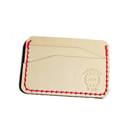 Talisman & Co. | USA Made Minimalist Wallet - Natural Veg Tanned