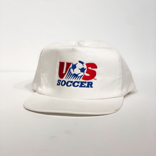 US Soccer Leather Strapback Cap