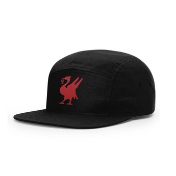 Talisman Liverbird Black 5-Panel Cap
