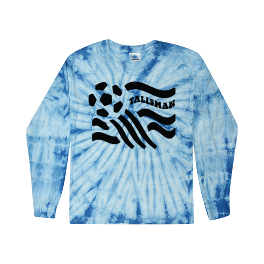 Talisman Blue Tie Dye Long Sleeve Tee