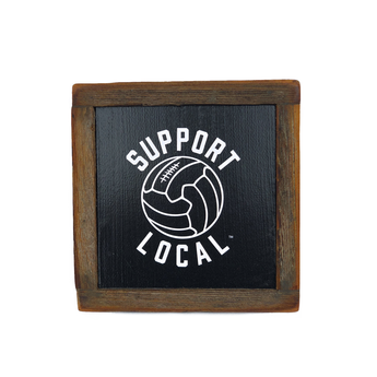Talisman Support Local Fútbol Reclaimed Wood Box Art