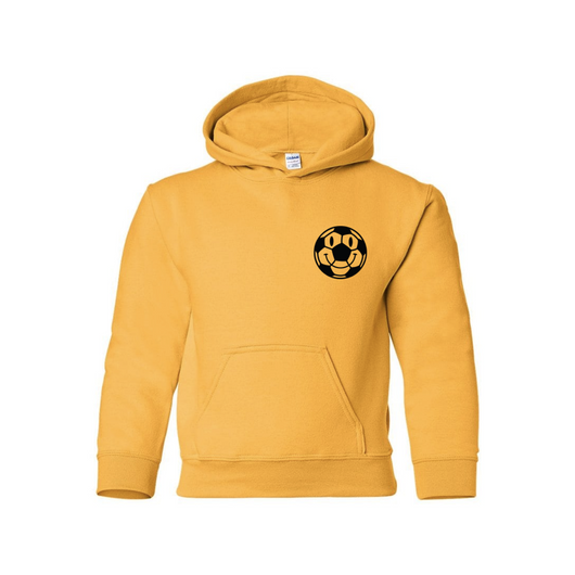 Kids Happy Ball Hoodie - Yellow