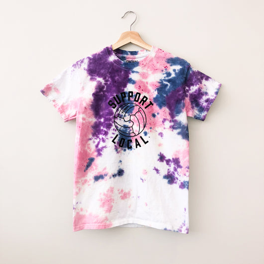 Support Local Fútbol Bubble Gum Tie Dye Tee