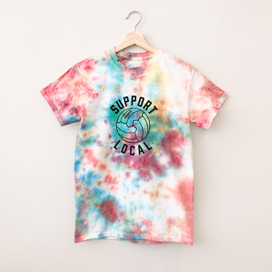 Support Local Fútbol Skittles Tie Dye Tee