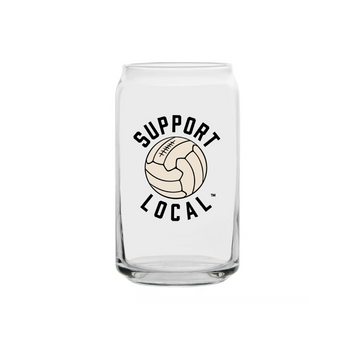 Support Local Fútbol Can Glass