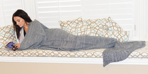 Knit Mermaid Blankets