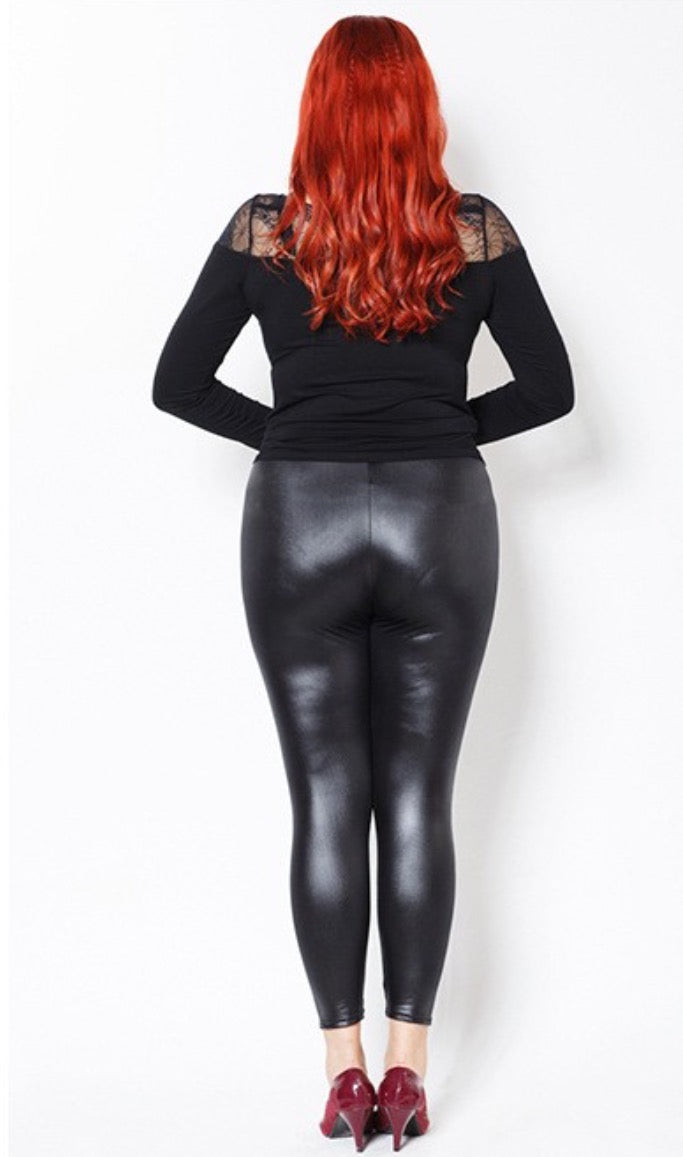 Plus size latex leggings, tabu nude fuked