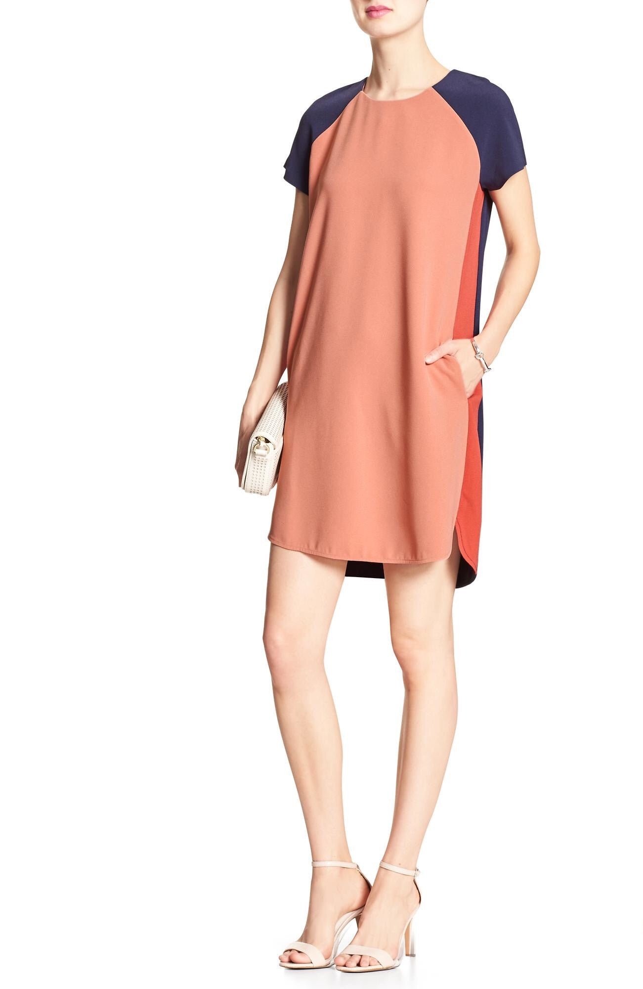 Banana Republic Blue ColorBlock Shift Dress