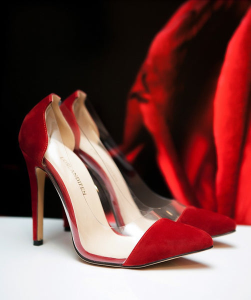 (A)   VELVET Pointed Toe Pumps