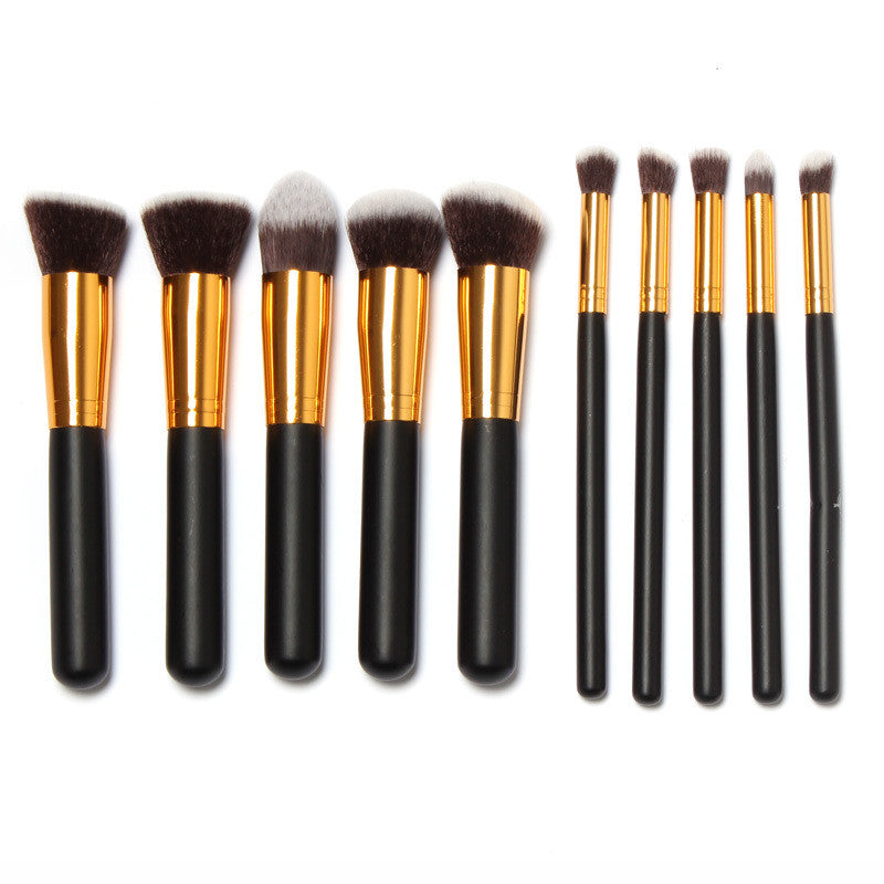 NAKEHOUSE-10 Pcs Professional Make up Brushes Kit with Draw String Makeup Bag,Multiple brushes