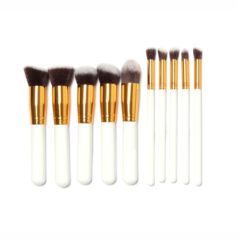 NAKEHOUSE-10 Pcs Professional Makeup Brushes  Kit with Bag,Multiple brushes