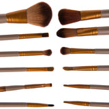 NAKEHOUSE-12 Pcs NK3 Bamboo Handle Makeup Cosmetic Brushes With Box,Multiple brushes