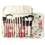 NAKEHOUSE-12 Pieces Professional Goat Hair Make up Brush,Multiple brushes