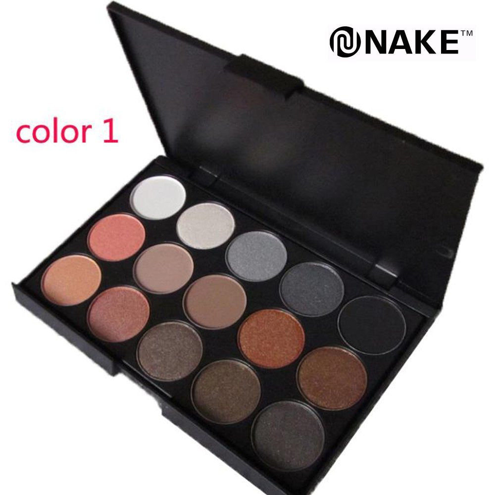 NAKEHOUSE-15 Earth Colors Professional Glitter Matte Eyeshadow Palette,eye shadow