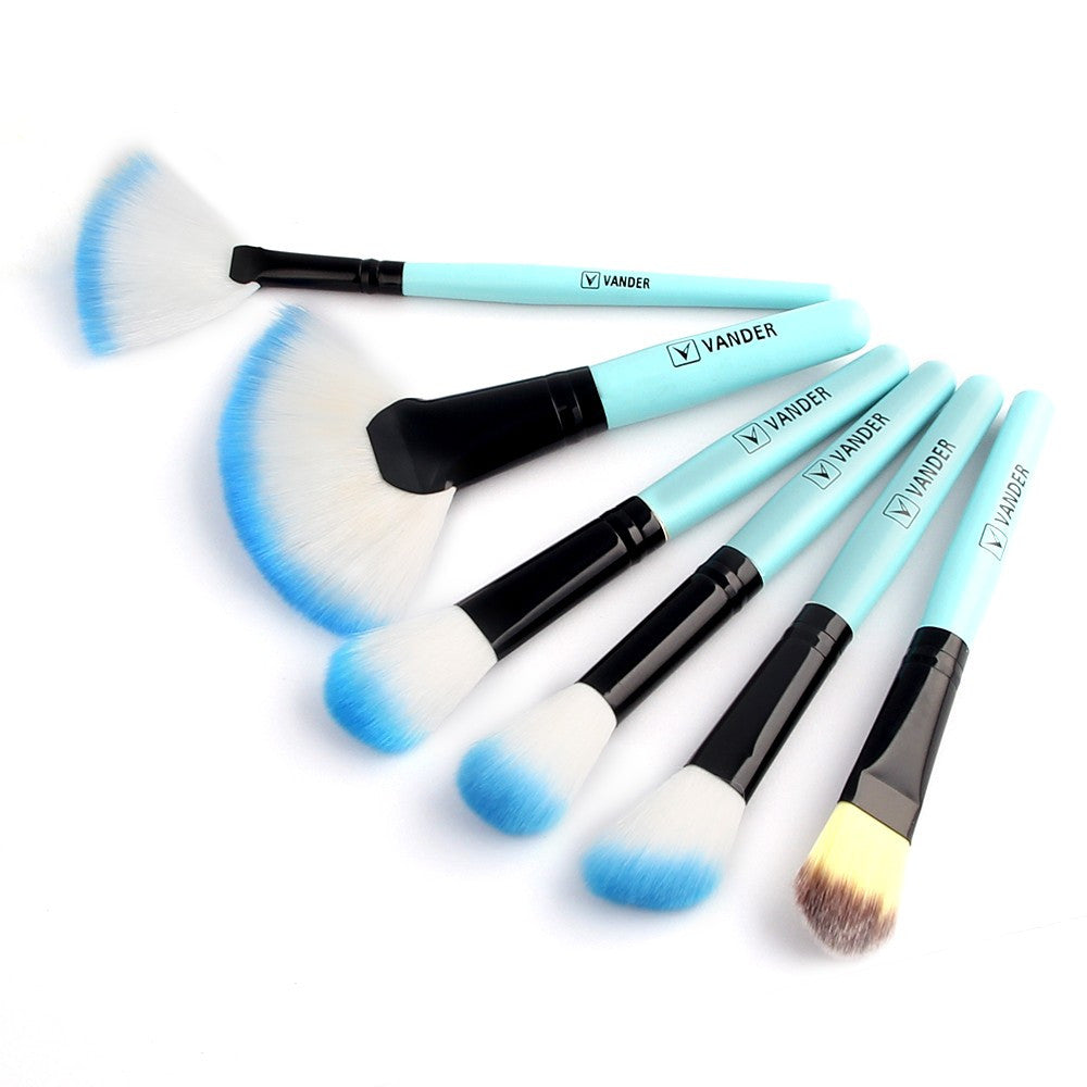 NAKEHOUSE-32 Pcs Blue Foundation Powder Eyeliner Makeup Brushes Kit  + bag,Multiple brushes