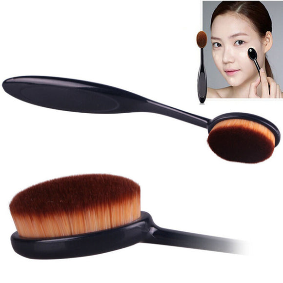 NAKEHOUSE-Oval Toothbrush Shaped Makeup Curve Brush Set,Single brush
