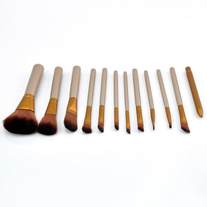 NAKEHOUSE-12 pcs Professional Cosmetics Make Up Brushes,Multiple brushes