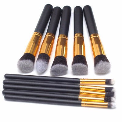 NAKEHOUSE-10pcs/set High Quality Makeup Brushes Beauty Cosmetics Foundation Blending tool Kit Set,Multiple brushes