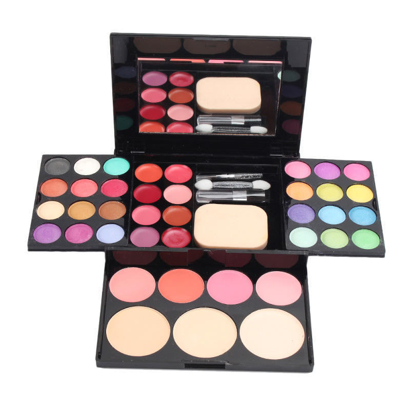 NAKEHOUSE-Professional 39 Colors Waterproof Natural Eyeshadow Founfation Blush Lip Powder Palette Set,eye shadow