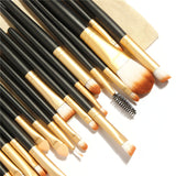 NAKEHOUSE-20Pcs Makeup Brushes Set Tool with Drawing Bag,Multiple brushes