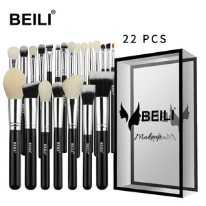 BEILI Black Luxe Professional 22pcs  Powder Foundation Blending Makeup Brush set
