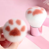 Cute Cat Claw Paw Makeup and Power Foundation Brush