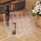 24 Grid Acrylic Makeup Organizer  Cosmetic Lipstick  Case Holder Stand Storage Box