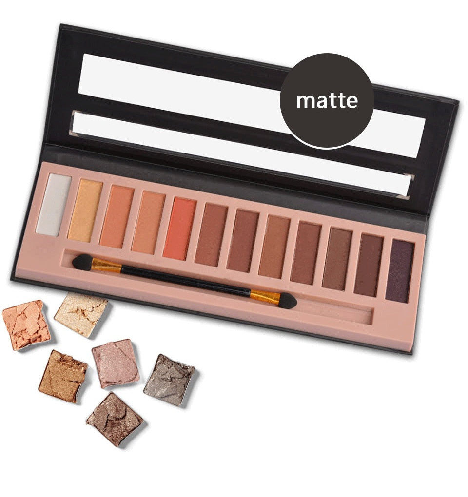 NAKEHOUSE-12 Color Pro Glitter Shimmer and Matte Professional Eyeshadow Palette,eye shadow