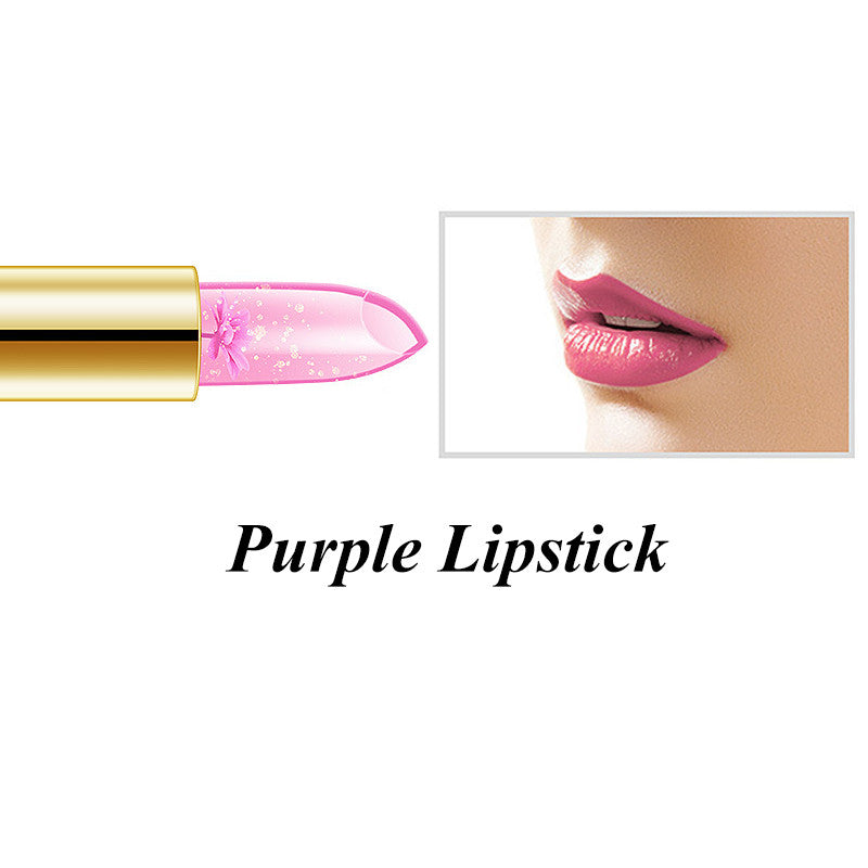 NAKEHOUSE-Flower Jelly Lipstick Temperature Change Lipsticks 4 Colors,Lipstick