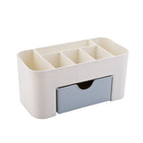 NAKEHOUSE-Cosmetic Jewelry Organizer Office Storage Drawer Desk Makeup Case Plastic Makeup Brush Box Lipstick Remote Control Holder,Tool